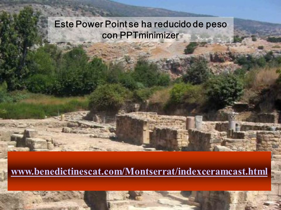 Este Power Point se ha reducido de peso con PPTminimizer