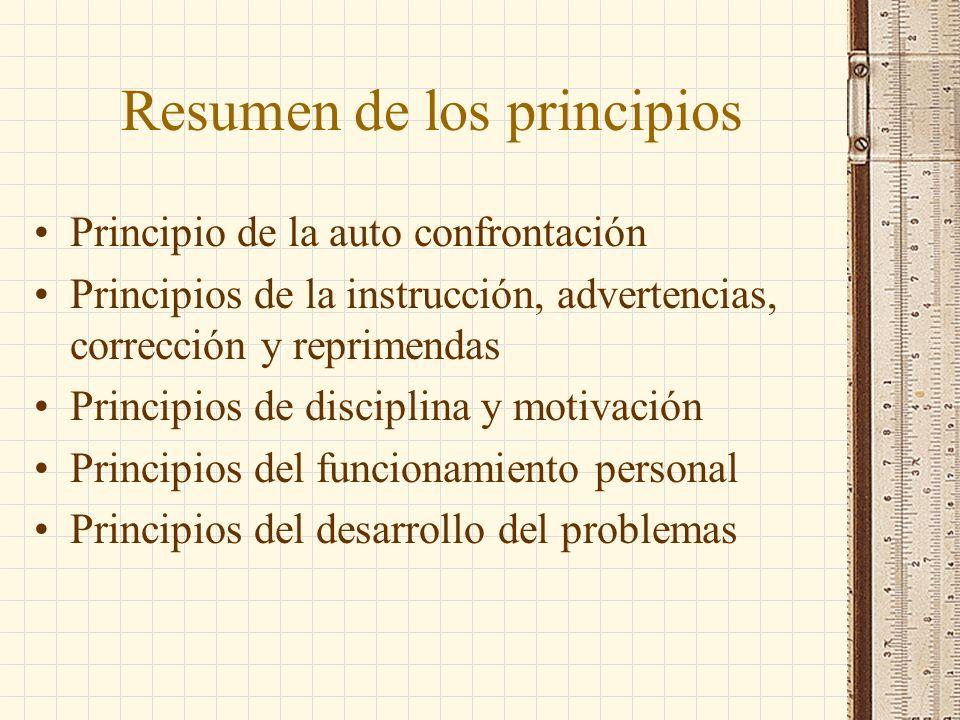 Resumen de los principios