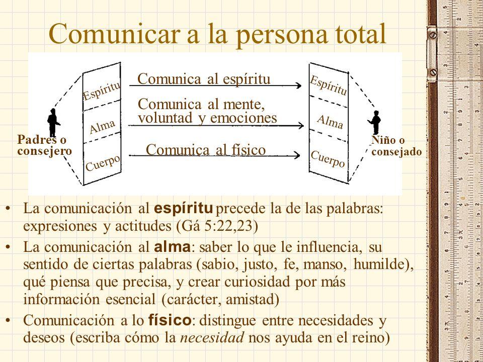 Comunicar a la persona total