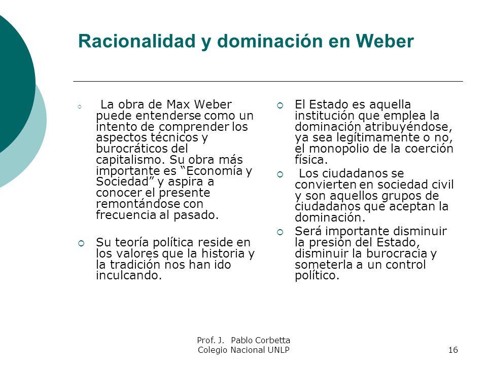 Racionalidad y dominación en Weber