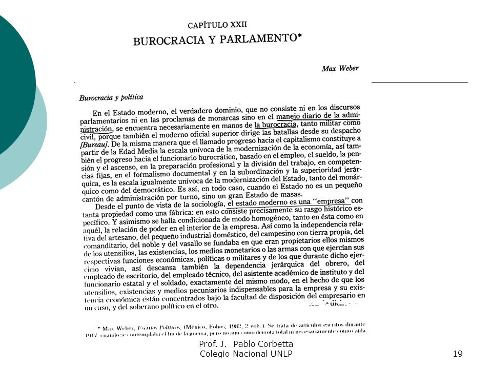 Prof. J. Pablo Corbetta Colegio Nacional UNLP
