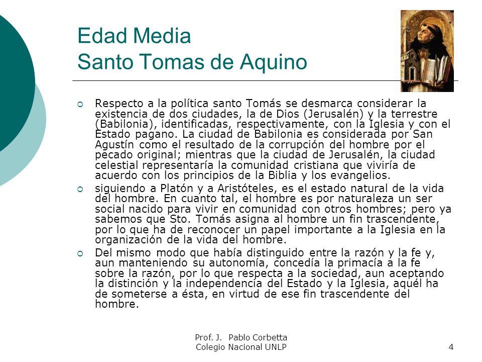Edad Media Santo Tomas de Aquino
