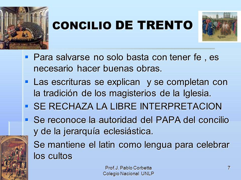 Prof.J. Pablo Corbetta Colegio Nacional UNLP