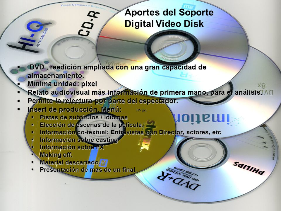 Aportes del Soporte Digital Video Disk