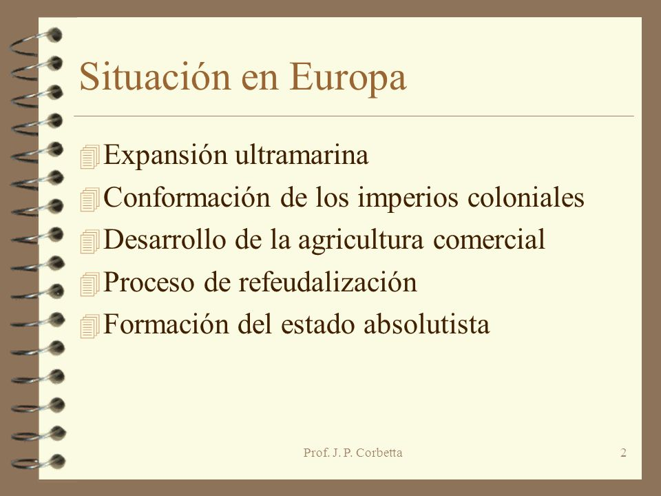 Situación en Europa Expansión ultramarina