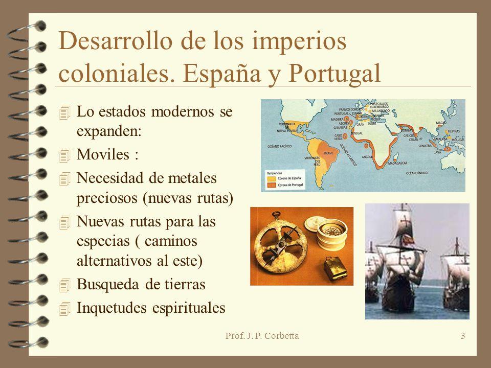 Desarrollo de los imperios coloniales. España y Portugal