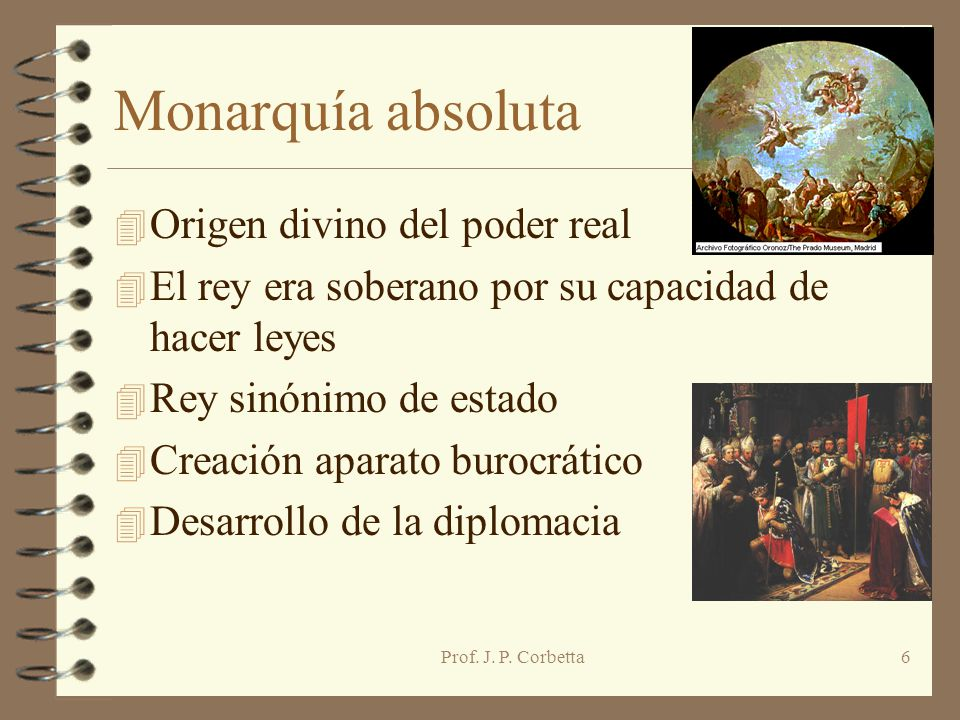 Monarquía absoluta Origen divino del poder real