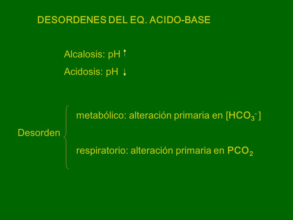 DESORDENES DEL EQ. ACIDO-BASE