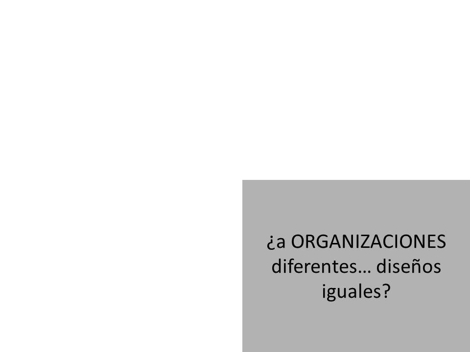 ¿a ORGANIZACIONES diferentes… diseños iguales