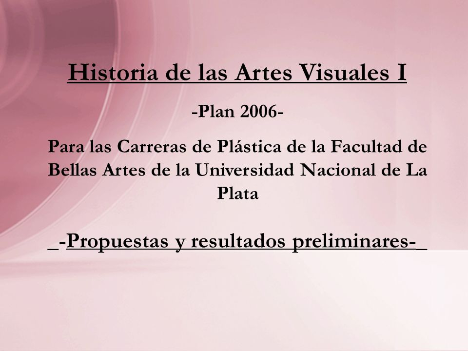 Historia de las Artes Visuales I