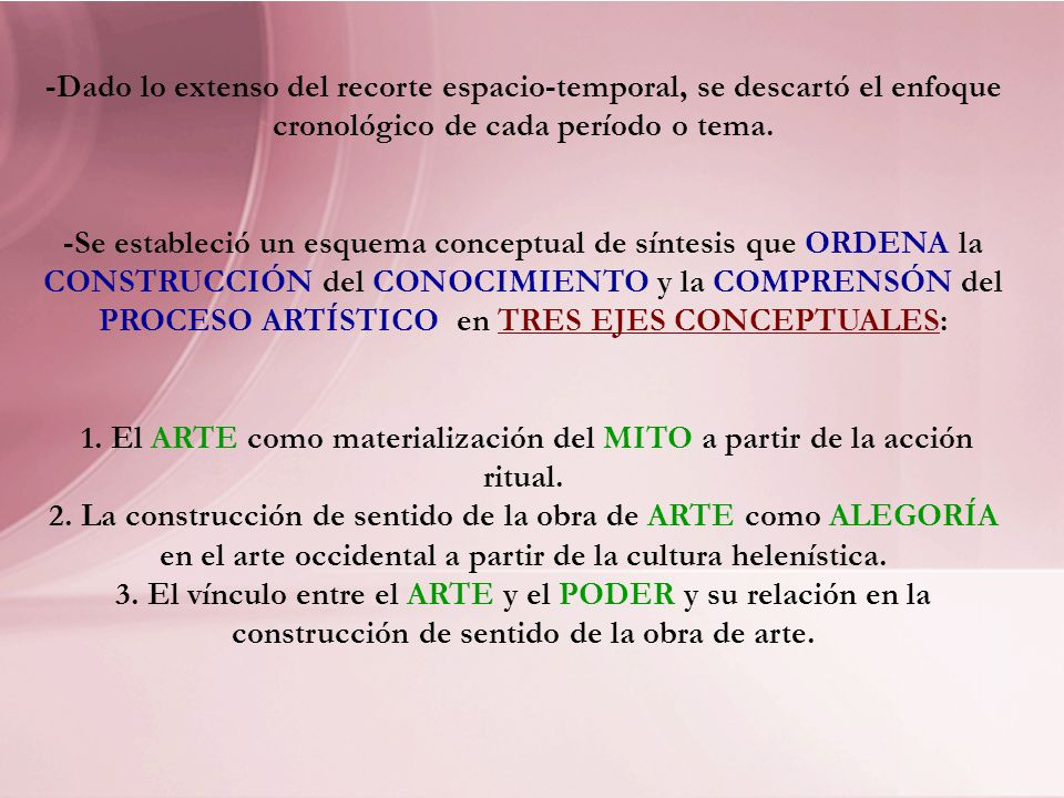1. El ARTE como materialización del MITO a partir de la acción ritual.