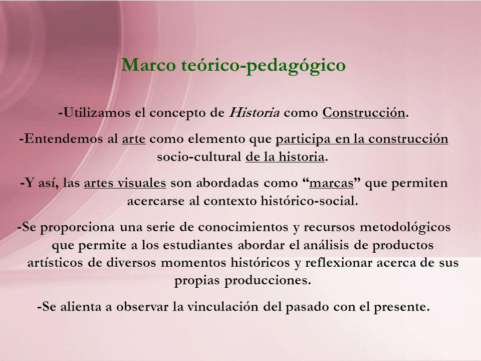 Marco teórico-pedagógico