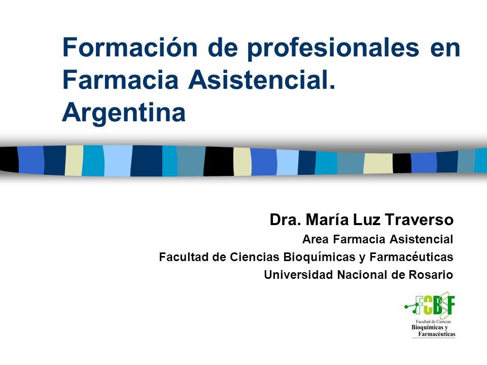 Formación de profesionales en Farmacia Asistencial. Argentina