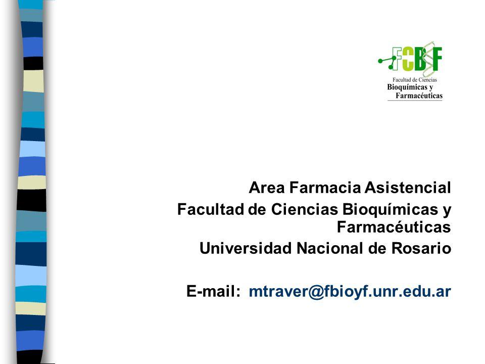 Area Farmacia Asistencial