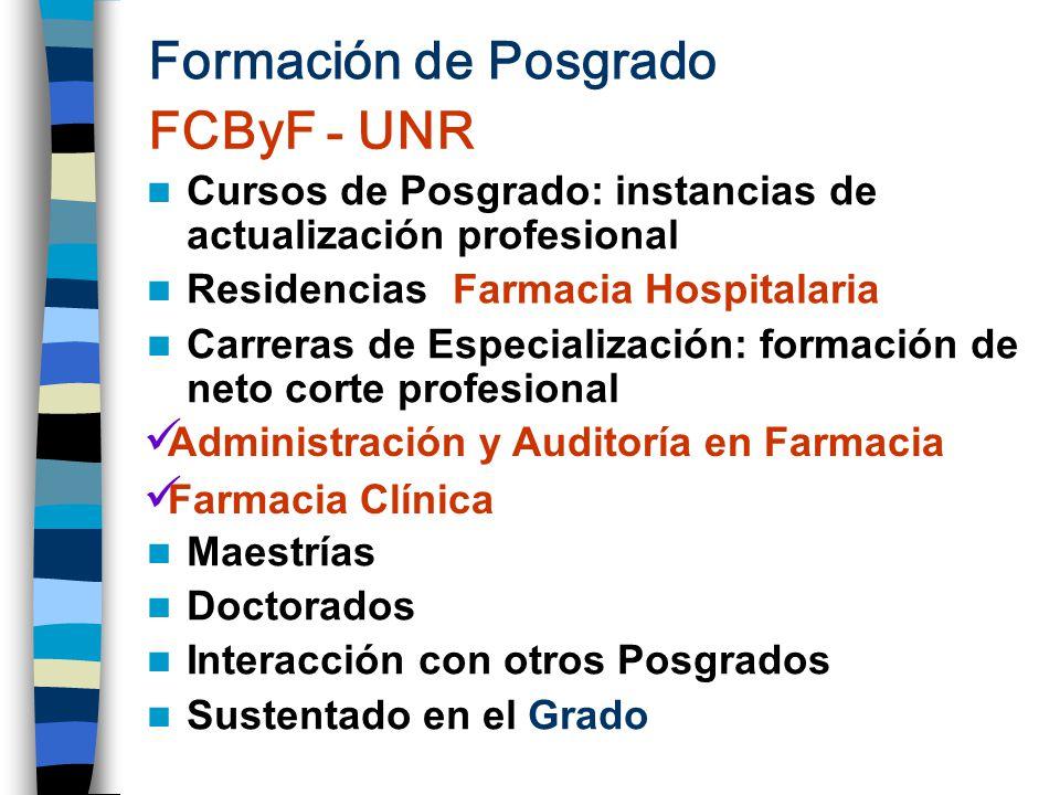 Formación de Posgrado FCByF - UNR