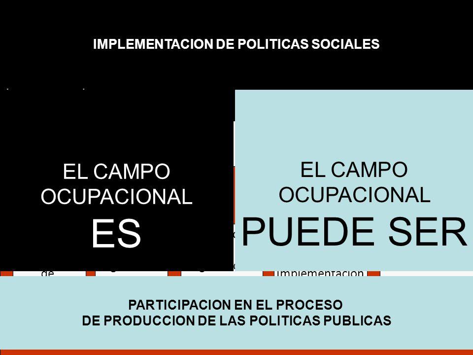 ES EL CAMPO OCUPACIONAL PUEDE SER EL CAMPO OCUPACIONAL