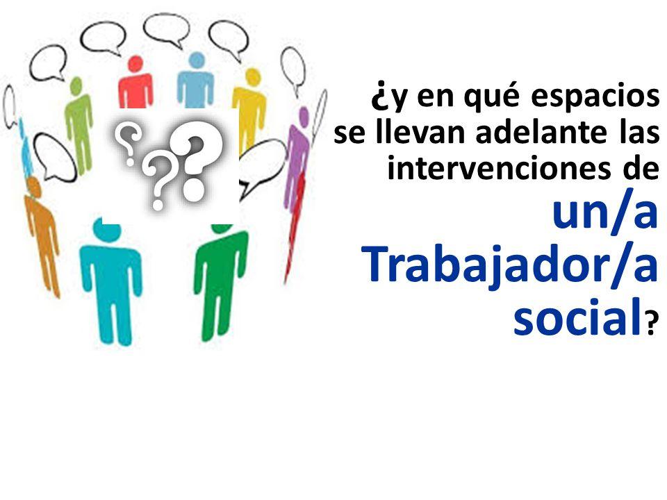 ¿y en qué espacios se llevan adelante las intervenciones de un/a Trabajador/a social
