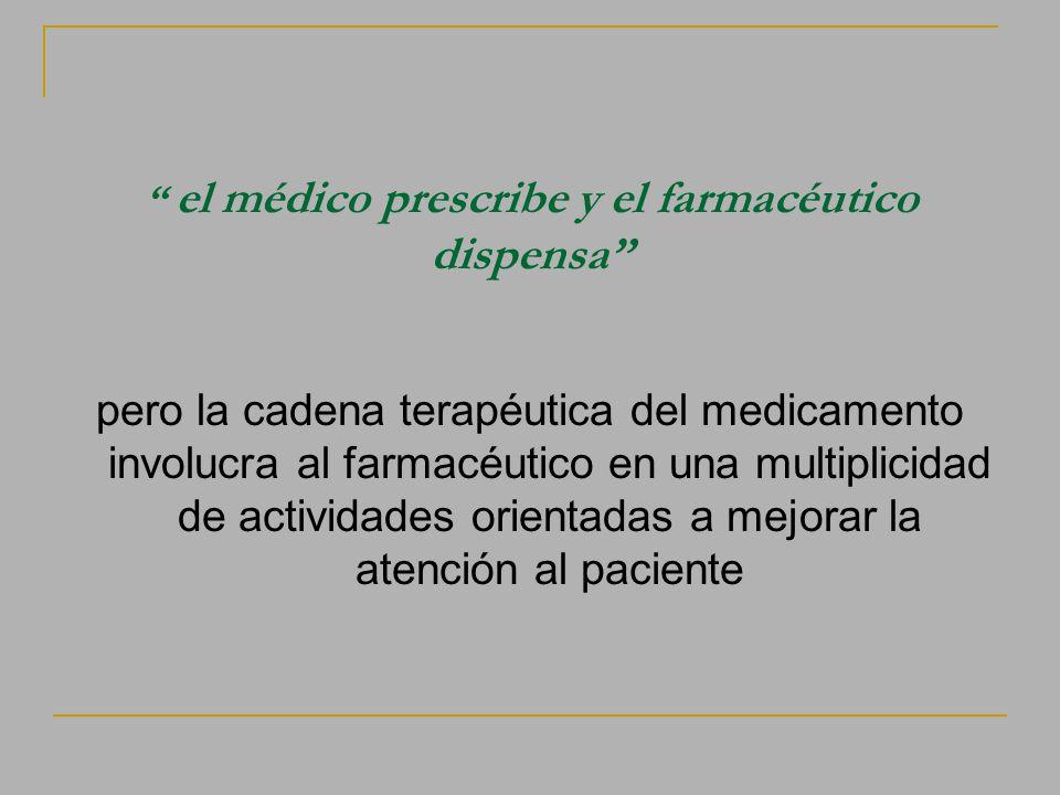 el médico prescribe y el farmacéutico dispensa
