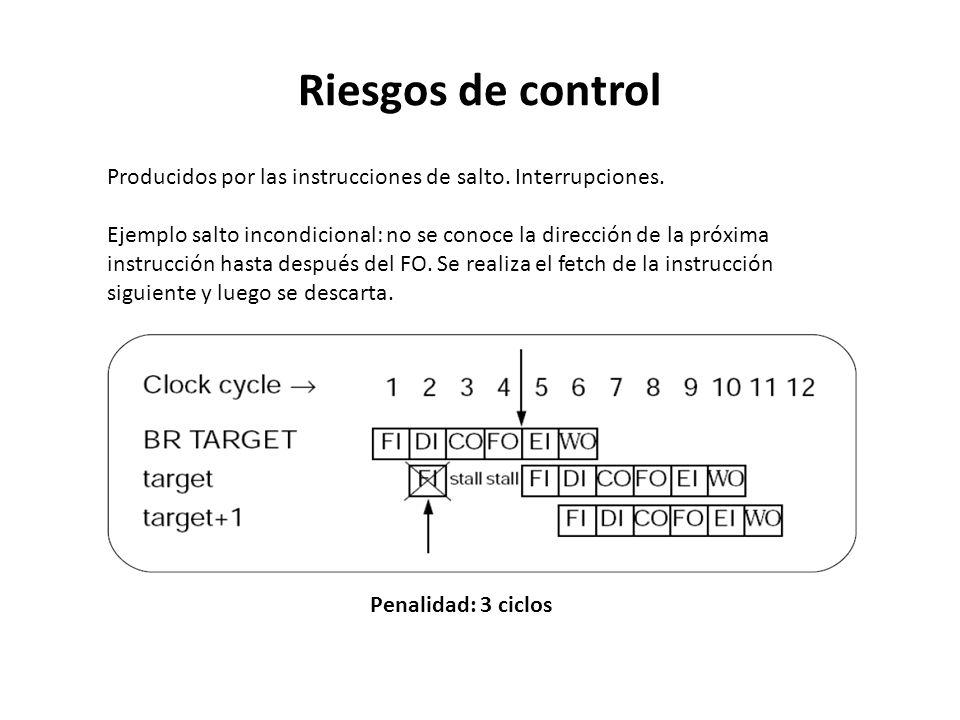 Riesgos de control Producidos por las instrucciones de salto. Interrupciones.
