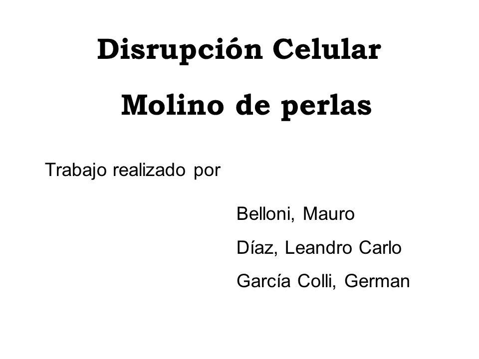 Disrupción Celular Molino de perlas Trabajo realizado por