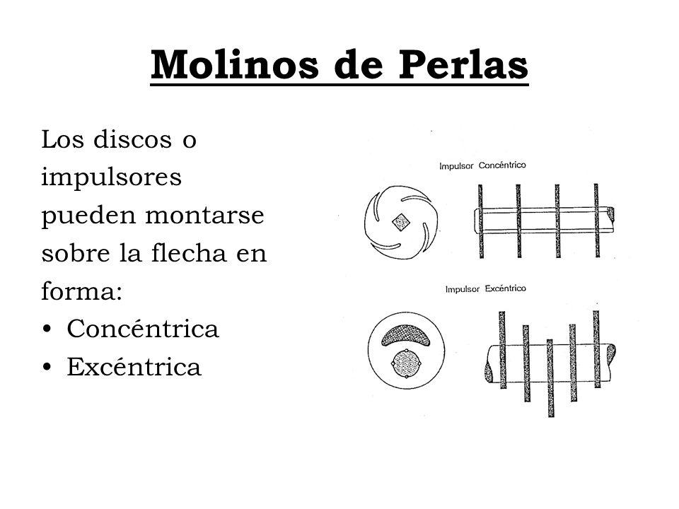 Molinos de Perlas Los discos o impulsores pueden montarse