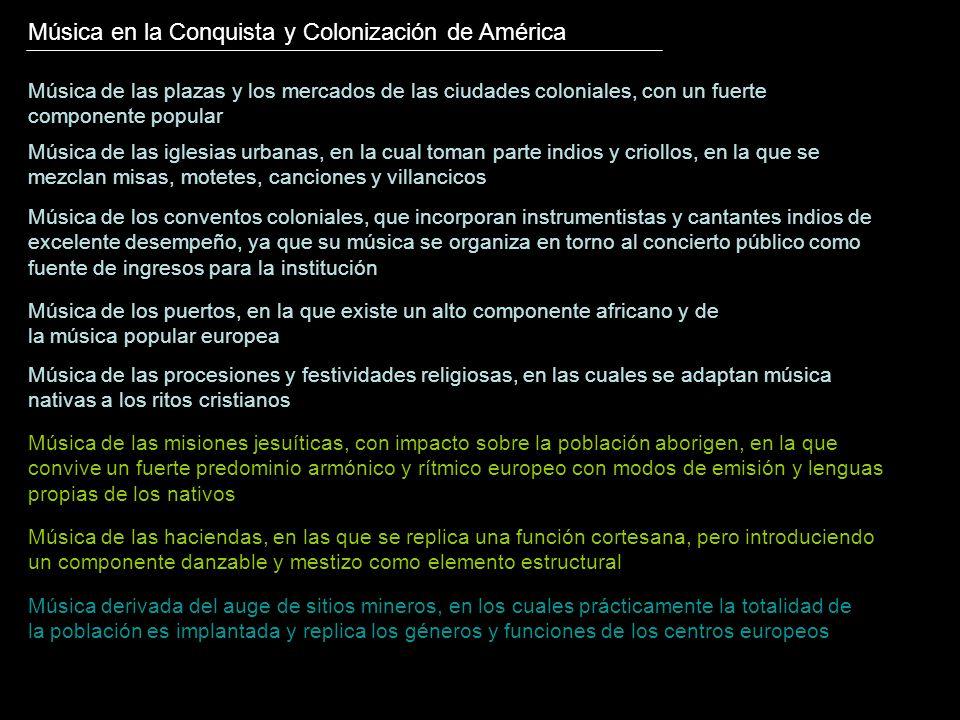Música en la Conquista y Colonización de América