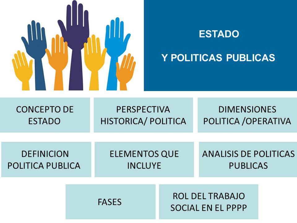 ESTADO Y POLITICAS PUBLICAS