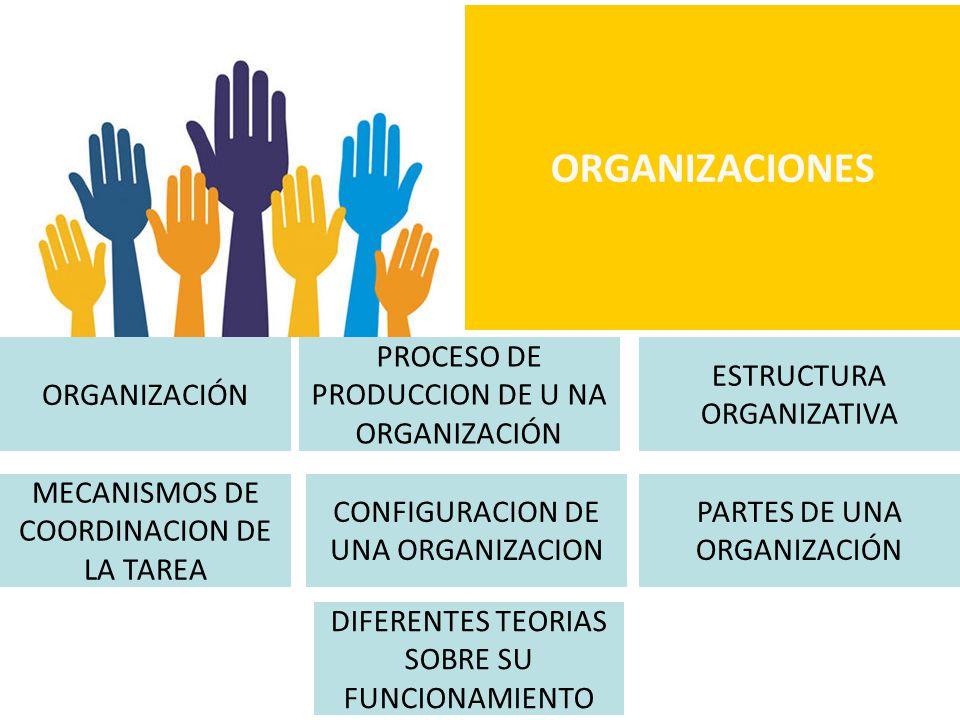 ORGANIZACIONES ORGANIZACIÓN PROCESO DE PRODUCCION DE U NA ORGANIZACIÓN