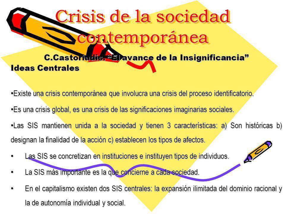 Crisis de la sociedad contemporánea