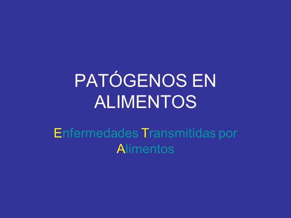 PATÓGENOS EN ALIMENTOS