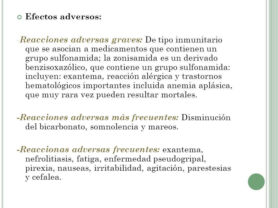 Efectos adversos: