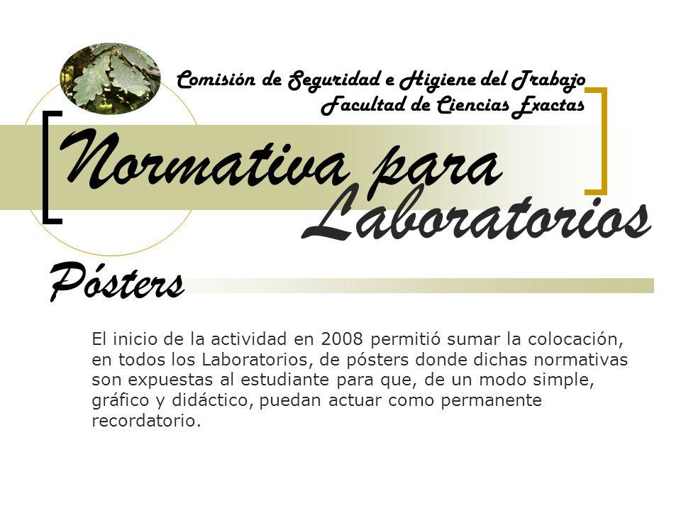 Normativa para Laboratorios Pósters