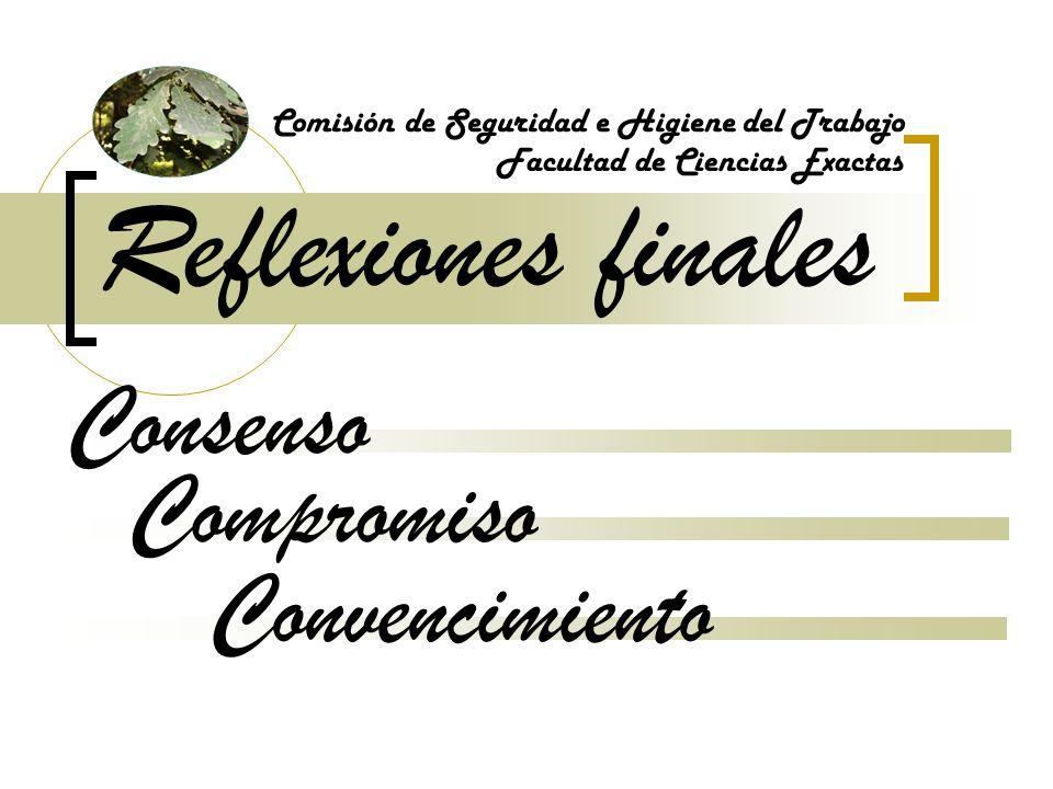 Reflexiones finales Consenso Compromiso Convencimiento
