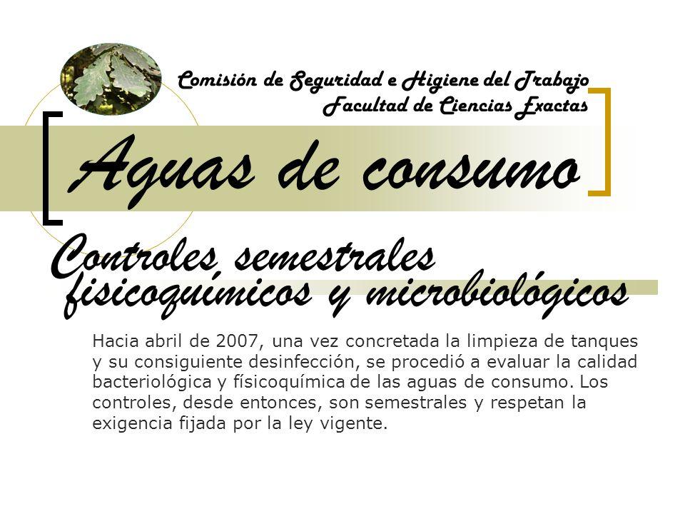 Aguas de consumo Controles semestrales