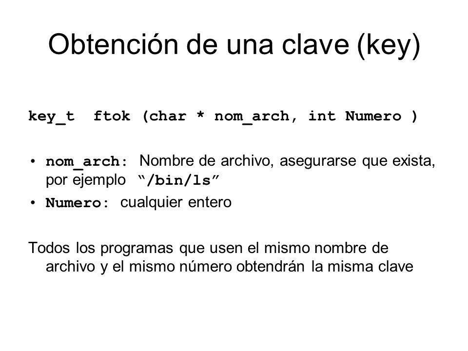 Obtención de una clave (key)