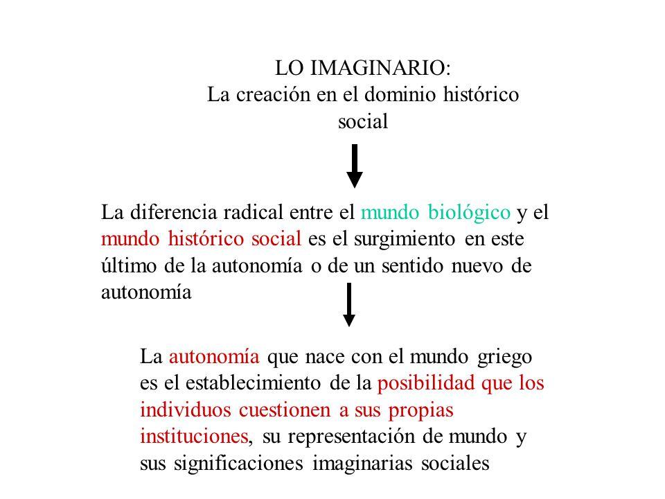 La creación en el dominio histórico social