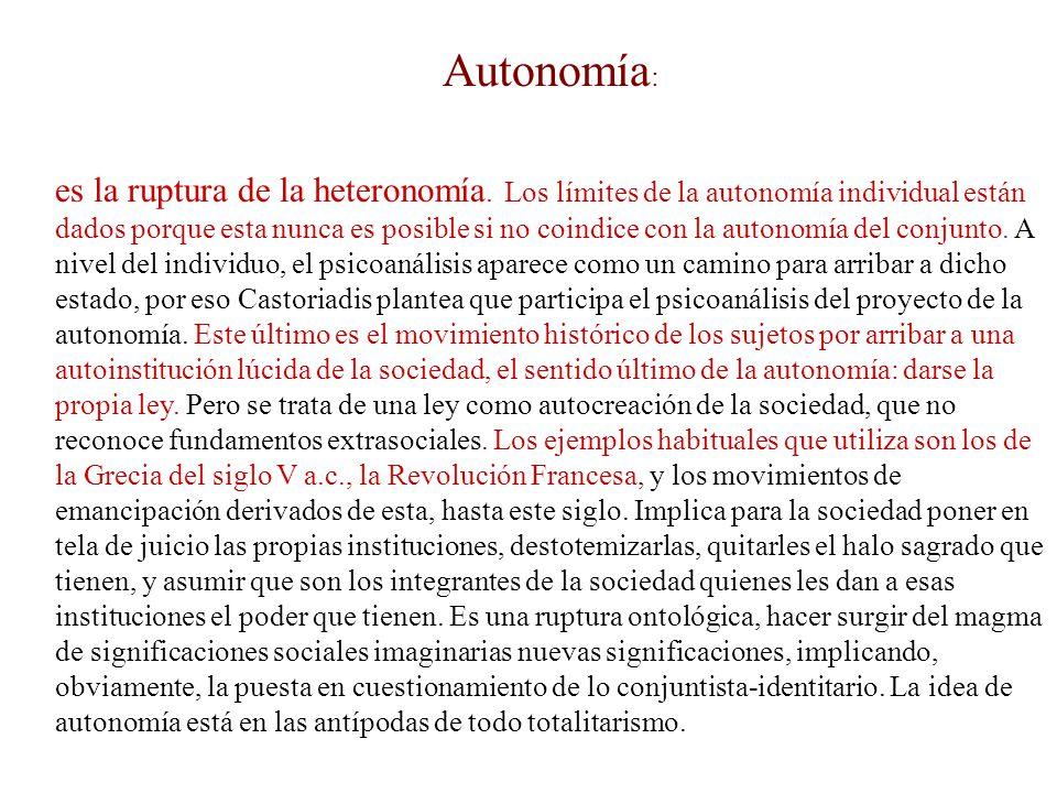 Autonomía: