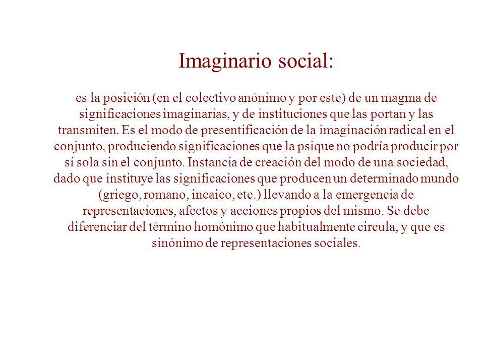Imaginario social: