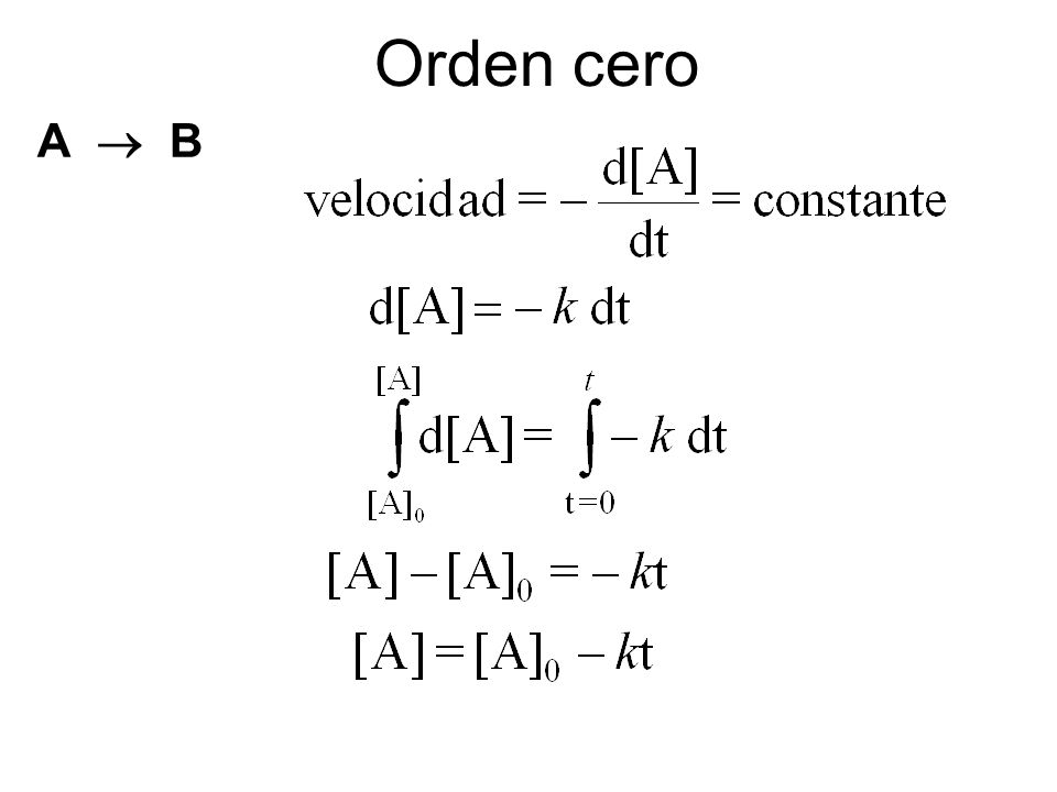 Orden cero A  B
