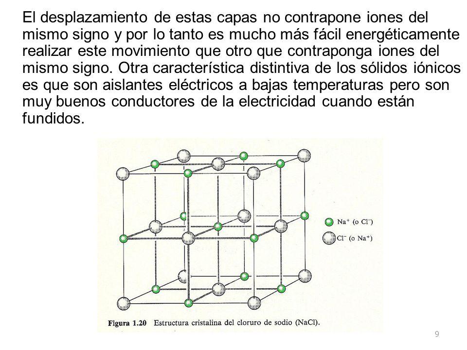El desplazamiento de estas capas no contrapone iones del mismo signo y por lo tanto es mucho más fácil energéticamente realizar este movimiento que otro que contraponga iones del mismo signo.