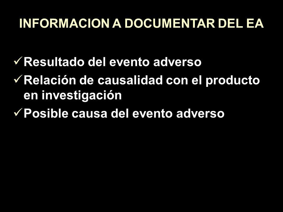 INFORMACION A DOCUMENTAR DEL EA