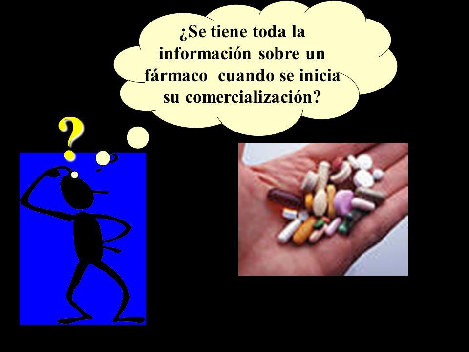 ¿Se tiene toda la información sobre un fármaco cuando se inicia