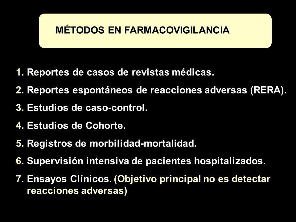 MÉTODOS EN FARMACOVIGILANCIA