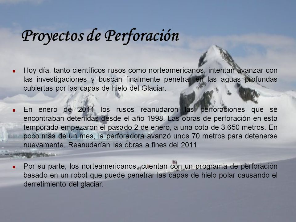 Proyectos de Perforación