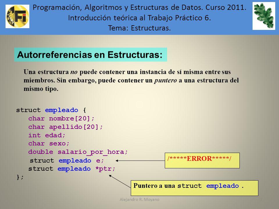 Autorreferencias en Estructuras: