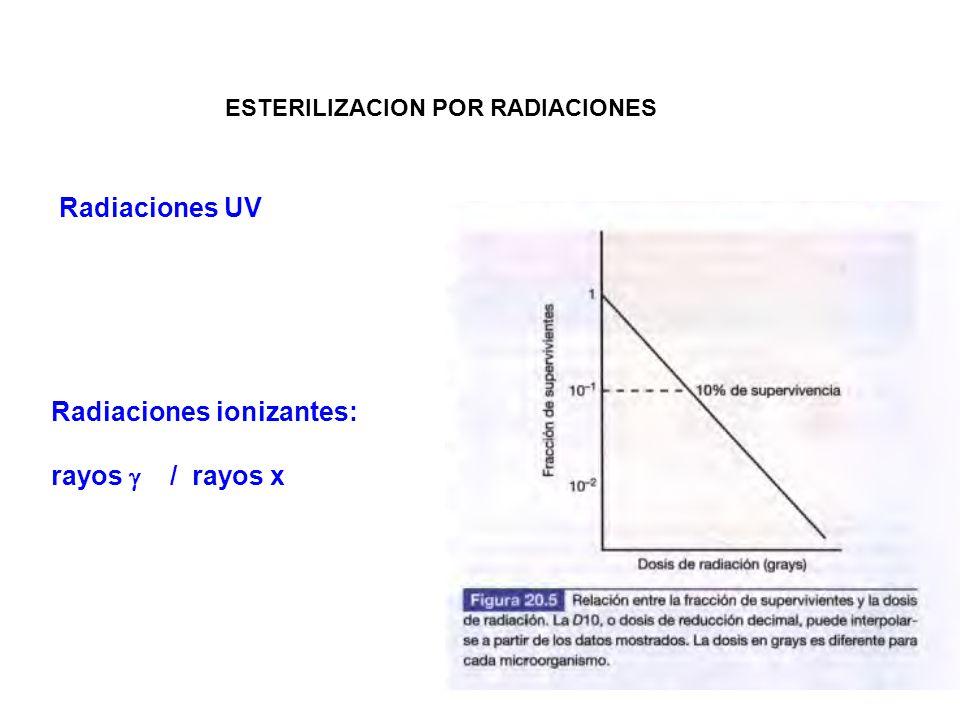 Radiaciones ionizantes: rayos  / rayos x