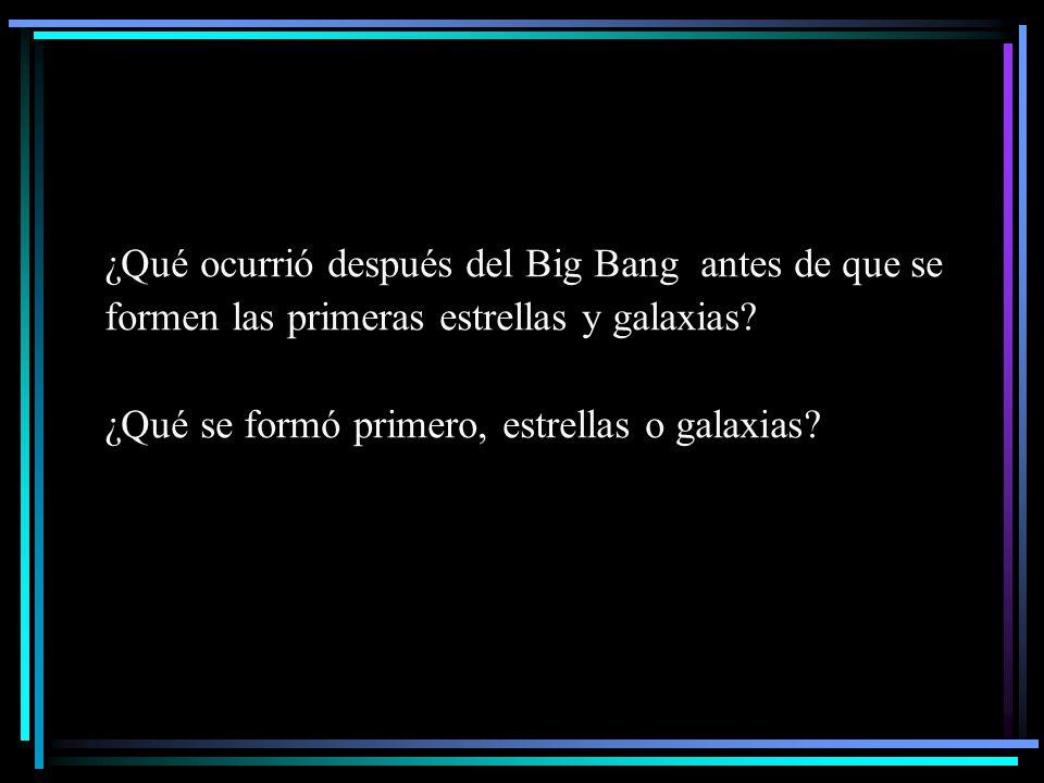 ¿Qué ocurrió después del Big Bang antes de que se formen las primeras estrellas y galaxias