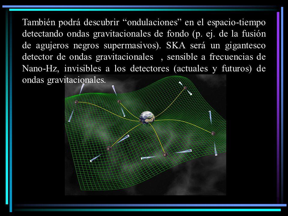 También podrá descubrir ondulaciones en el espacio-tiempo detectando ondas gravitacionales de fondo (p.