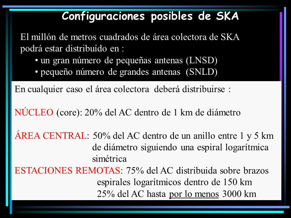 Configuraciones posibles de SKA