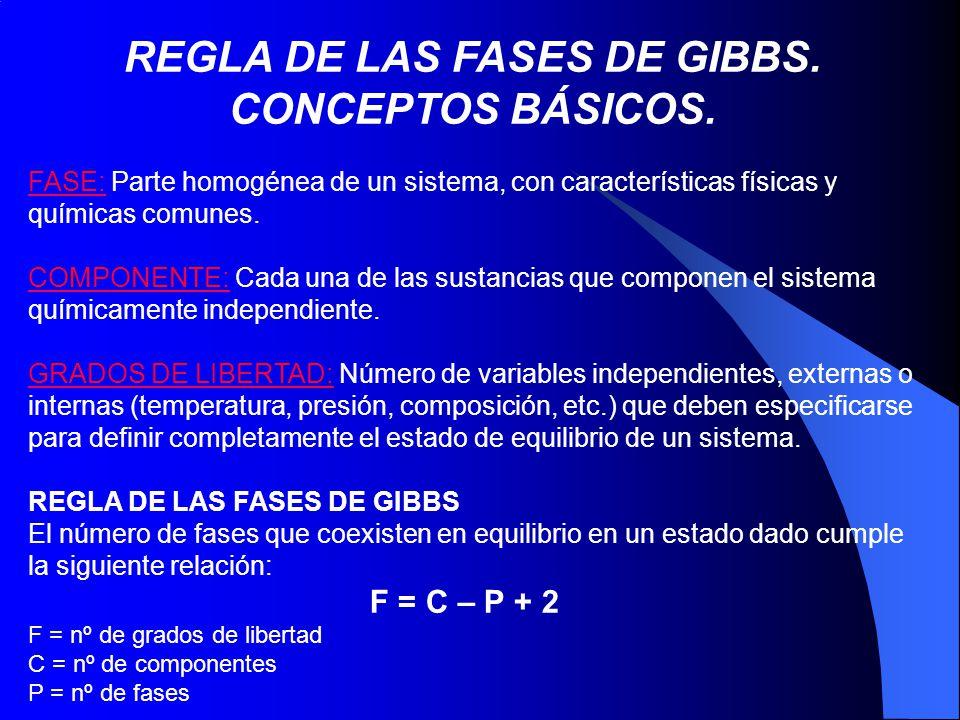 REGLA DE LAS FASES DE GIBBS. CONCEPTOS BÁSICOS.